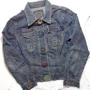 Vintage Cabi Button Snap Front Denim Jacket-Size M